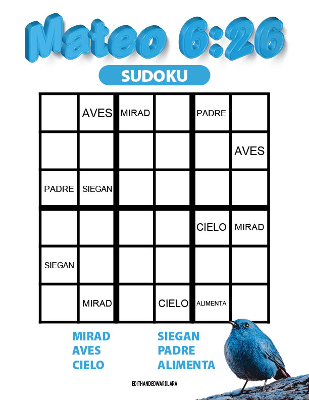 Mateo 6:26 - Sudoku