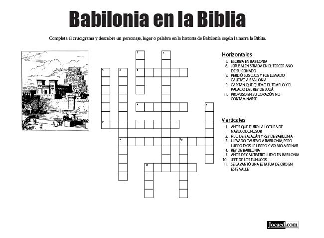 Juego Bíblico Para Niños: Crucigrama — Babilonia en la Biblia