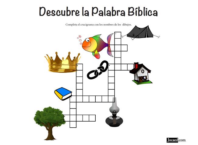 Juego Bíblico Para Niños: Crucigrama — Descubre la Palabra Bíblica