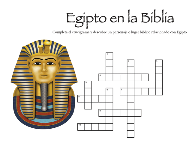 Juego Bíblico Para Niños: Crucigrama — Egipto en la Biblia