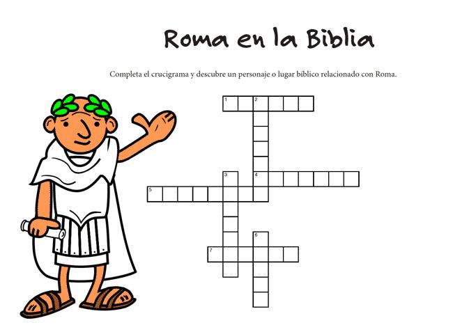 Juego Bíblico Para Niños: Crucigrama — Roma en la Biblia
