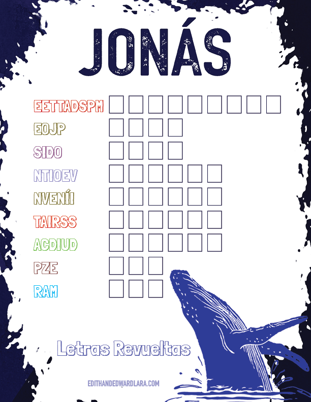 Juego Bíblico Para Niños: Letras Revueltas — Jonás