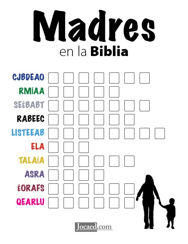 Juego Bíblico Para Niños: Letras Revueltas — Madres en la Biblia